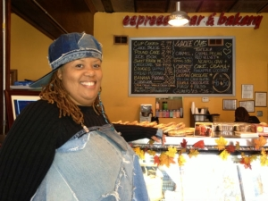 (Niala Boodhoo/WBEZ) Stephanie Hart owns Brown Sugar Bakery in Greater Grand Crossing on Chicago's South Side.